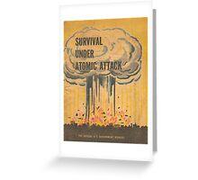 Vintage poster - Survival under atomic attack Greeting Card