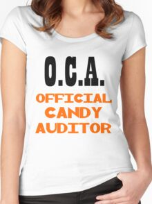 O.C.A. OFFICIAL CANDY AUDITOR Women's Fitted Scoop T-Shirt