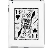 13 White Card iPad Case/Skin