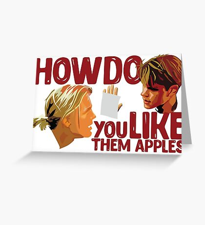 Good Will Hunting - Apple Greeting Card
