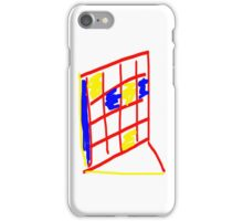 Abstract Tiles - Red, Yellow, Blue iPhone Case/Skin