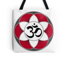 Aum Seed of Life Red Tote Bag