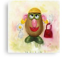 Mrs Potato Head - she's found her eyes! Canvas Print