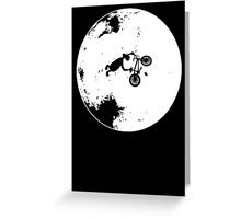 ET Extraterrestrial Moon BMX Trick Greeting Card