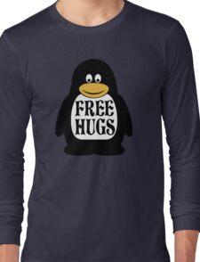 Hugs the Penguin Long Sleeve T-Shirt