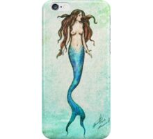 Mermaid | Watercolour Texture  iPhone Case/Skin