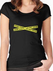 Crime Scene - Do Not Cross Women's Fitted Scoop T-Shirt