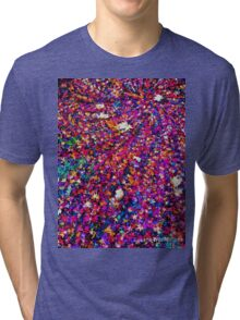 Galaxy of Leaves Psychedelic  Tri-blend T-Shirt