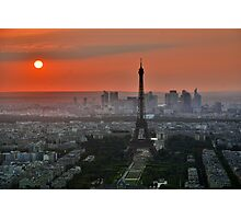 Eiffel Tower at Dusk Photographic Print
