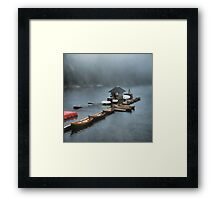 Foggy Morning At The Lake Framed Print