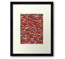shark party red Framed Print