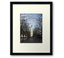 London Eye in Winter Framed Print