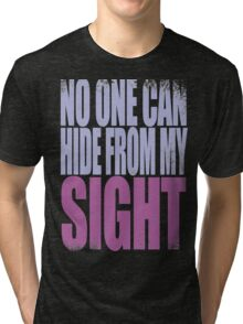 Widowmaker - No One Can Hide from My Sight Tri-blend T-Shirt