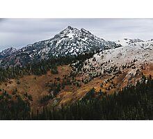 Hurricane Ridge In Autumn With Snow Photographic Print