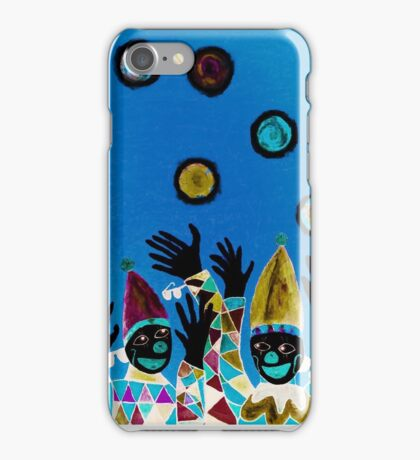 What Wonderful Worlds - Clowns with Many and Strange Hands - Dark iPhone Case/Skin