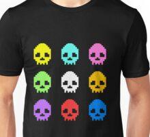 8-bit Skulls retro cool design Unisex T-Shirt