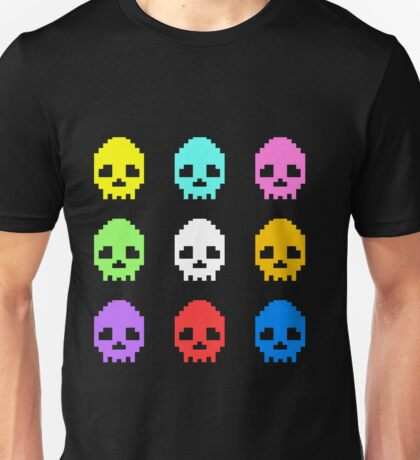8-bit Skulls retro cool design Unisex T-Shirt