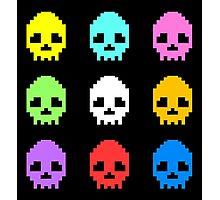 8-bit Skulls retro cool design Photographic Print