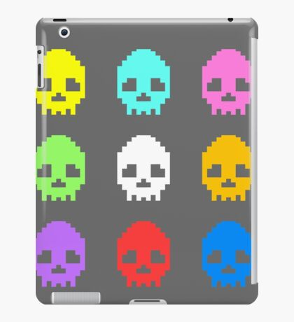 8-bit Skulls retro cool design iPad Case/Skin