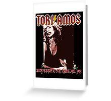 Tori Amos Wrapped in Metal Greeting Card