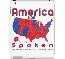 The Adorable Deplorable American's Have Spoken Unique Red white blue T-shirt iPad Case/Skin
