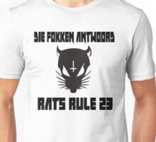 Rat Cross Design Unisex T-Shirt