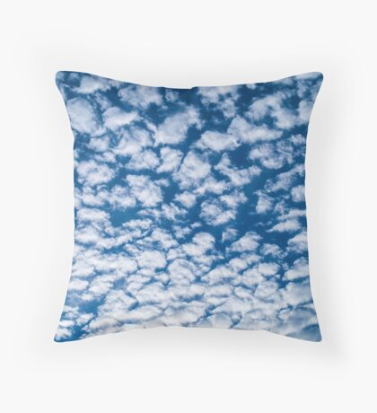 Little fluffy clouds Throw Pillow