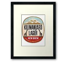 KILIMANJARO BEER Framed Print