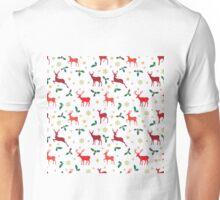 Christmas pattern deer red Unisex T-Shirt
