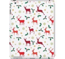 Christmas pattern deer red iPad Case/Skin
