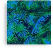 brazil palm tree graphic retro design pattern Canvas Print