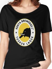 TUSKER LAGER BEER Women's Relaxed Fit T-Shirt