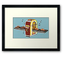 Music heals a broken heart Framed Print