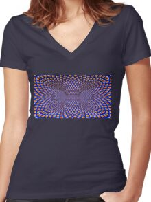 Languishing Lucidity Women's Fitted V-Neck T-Shirt