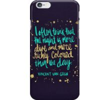 Night Owl on Navy iPhone Case/Skin