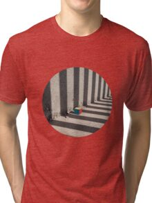 Rubik shading stripes Tri-blend T-Shirt