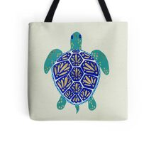 Sea Turtle – Navy & Gold Tote Bag