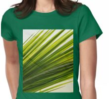 Palm Leaf Abstract Womens Fitted T-Shirt