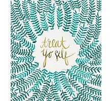 Treat Yo Self – Gold & Turquoise Photographic Print