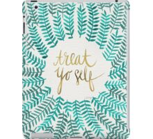 Treat Yo Self – Gold & Turquoise iPad Case/Skin