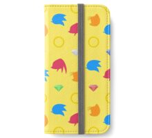 Sonic & Knuckles & Tails with Chaos Emeralds (yellow) iPhone Wallet/Case/Skin