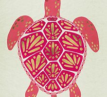 Pink & Gold Sea Turtle by Cat Coquillette