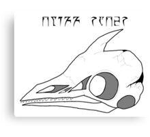 Cliff Racer Skull Canvas Print