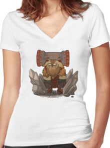 DotA 2 Earthshaker Women's Fitted V-Neck T-Shirt