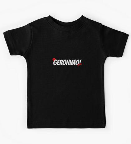 GERONIMO!  (White Text) Kids Tee