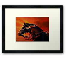 War Horse Joey Painting Framed Print