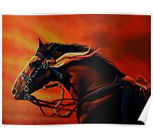 War Horse Joey Painting Poster
