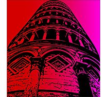 Leaning Tower of Pisa Artwork 2 Photographic Print