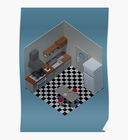 Isometric Kitchen Poster