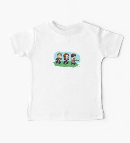 Eleventh Doctor and the Ponds ... Peanuts Style Baby Tee